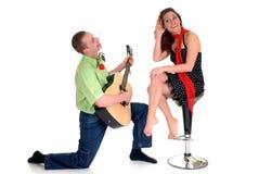 Amour de Valentine, jeunes adultes Photos stock