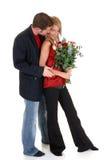 Amour de Valentine, jeunes adultes Images libres de droits