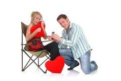 Amour de Valentine, proposition Photo stock