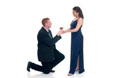 Amour de Valentine, proposition Photographie stock libre de droits
