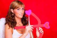 Amour de Valentine tiré par ange d'amor Photos libres de droits