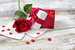 Amour de valentines dans la fin vers le haut de la vue Photographie stock libre de droits