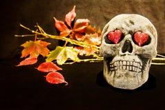 Amour de Veille de la toussaint avec le crâne effrayant Images stock