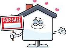 Amour de vente à la maison de bande dessinée illustration de vecteur