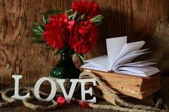 Amour de vieux livre et de mot Image stock