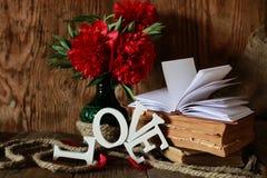 Amour de vieux livre et de mot Photographie stock libre de droits