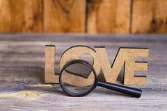 Amour de vue d'abstraction par une loupe Photo libre de droits