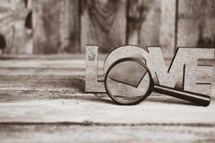 Amour de vue d'abstraction par une loupe Image stock