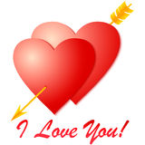 Amour de Whith pour vous ! ! Image libre de droits
