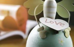 Amour de Word avec le coeur brouillé Photo libre de droits