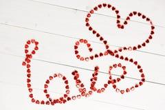 Amour de Word de ficelle rouge Image libre de droits