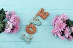 Amour de Word des biscuits cuits au four Image libre de droits