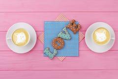 Amour de Word des biscuits cuits au four Photo libre de droits