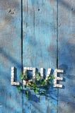 Amour de Word ? ? des dominos en bois Images stock