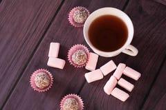 AMOUR de Word des guimauves et du chocolat Photographie stock