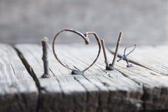 Amour de Word - jour de valentines ou de mères, carte de mariage Photo stock
