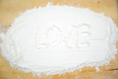 Amour de Word sur la farine Photo libre de droits