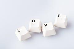 AMOUR de Word sur les boutons de clavier d'ordinateur Photo stock