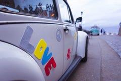 Amour de Word sur une voiture de vintage Images libres de droits