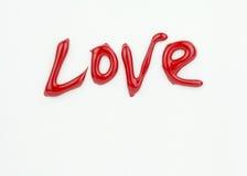 Amour de Word sur Valentine Card blanc Image libre de droits