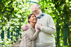 Amour des aînés Photos libres de droits