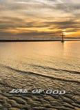 Amour des eaux de Dieu Photos libres de droits