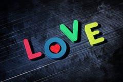 Amour des lettres colorées Image stock