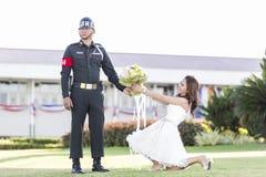 Amour des militaires Photographie stock
