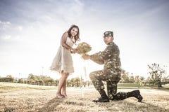 Amour des militaires Image libre de droits