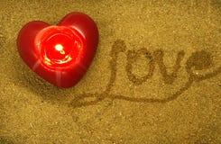 Amour des textes écrit à la main Image stock