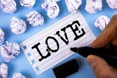 Amour des textes d'écriture de Word E Image libre de droits