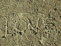 Amour des textes de fond de sable Photo libre de droits