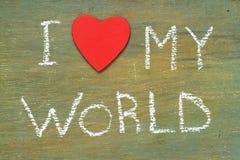 Amour des textes i mon monde Photos libres de droits