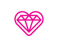 Amour Diamond Icon Logo Design Element illustration de vecteur