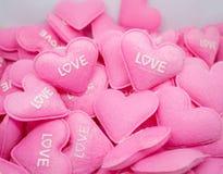 Amour doux de coeur de rose en pastel avec le whitebackground Photo stock