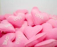 Amour doux de coeur de rose en pastel avec le whitebackground Photo libre de droits