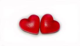 Amour doux Peu de fond coloré de coeurs de sucrerie Photos stock