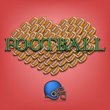 Amour du football illustration stock