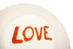 Amour du plat Images libres de droits