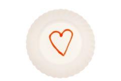 Amour du plat Photo libre de droits