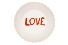 Amour du plat Image libre de droits