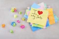 amour du travail i mon Photo stock