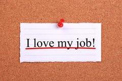 amour du travail i mon Image stock