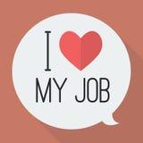 amour du travail i mon Images stock