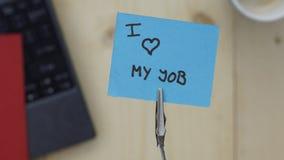 amour du travail i mon Photographie stock