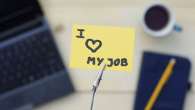 amour du travail i mon Photo libre de droits