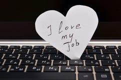 amour du travail i mon Photos libres de droits