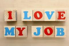 amour du travail i mon Images libres de droits
