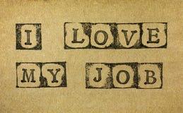 amour du travail i mon Photographie stock libre de droits