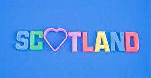 Amour Ecosse : logo de touristes. Photographie stock libre de droits
